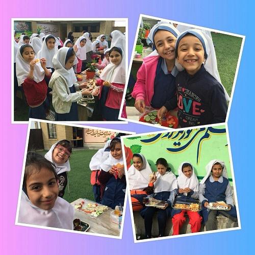 جشنواره صبحانه سالم در دبستان دخترانه مبتکرنوین